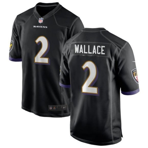 Ravens Tylan Wallace Black Jersey